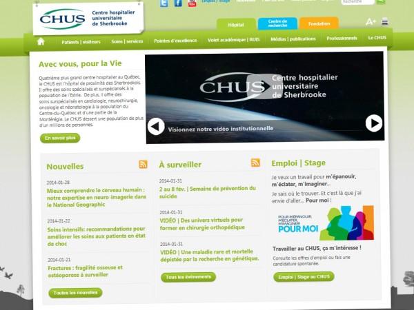 Site Web - Centre hospitalier universitaire de Sherbrooke