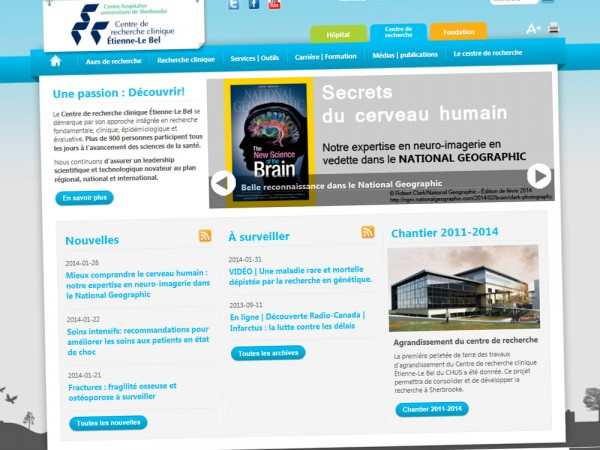 Site web - CRC Etienne-Le Bel