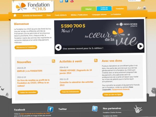 Site Web - Fondation du CHUS