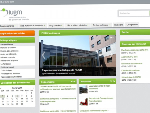 Conception - Intranet IUGM